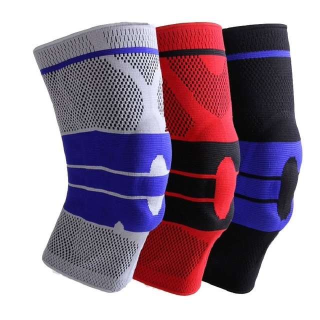 Hot Silica gel Protective Gear Basketball Football Sport Safety Kneepad volleyball Knee Pads Elastic Knee Support knee protecter