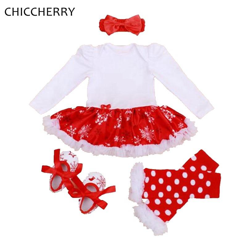 Mi primer disfraz de Navidad Ropa de niña bebé Conjuntos de encaje - Ropa de bebé - foto 5