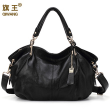 Women Hobo Hand Bags Qiwang Genuine Real Leather Shoulder Bag Luxury Brand Office Handbag for Fashion Large Capacity