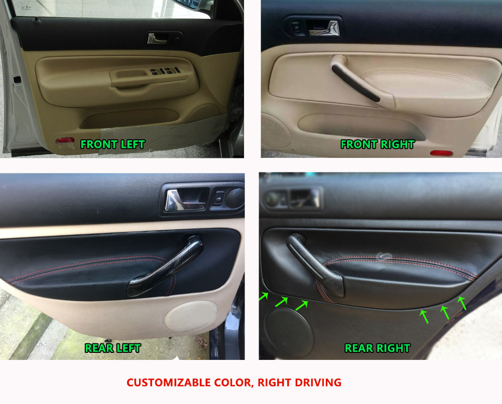 Image 5 - LHD Car Door Panel Armrest Handle Microfiber Leather Cover For VW Golf MK4 Bora Jetta 1998 1999 2000 2001 2002 2003 2004   2006-in Interior Mouldings from Automobiles & Motorcycles