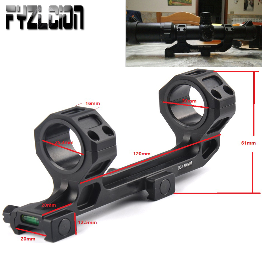 Hunting Rifle Scope Mount 25.4mm/30mm Diameter Rings Mount with Bubble Level Fit Picatinny Rail for Tactical Gun AR15 M4 M16-in Hunting Gun Accessories from Sports & Entertainment