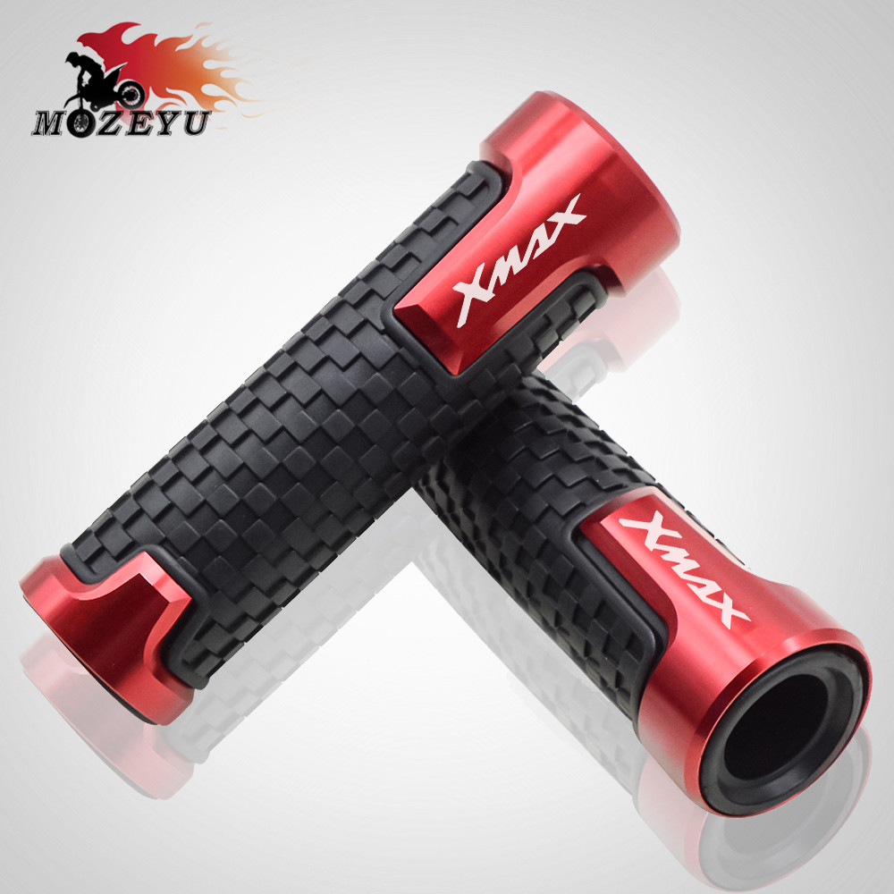 For Yamaha X MAX X MAX Xmax 125 250 300 400 CNC Street Racing Sctooer Racing Grips Motorcycle Handle Handlebar Grip xmax300 in Grips from Automobiles Motorcycles