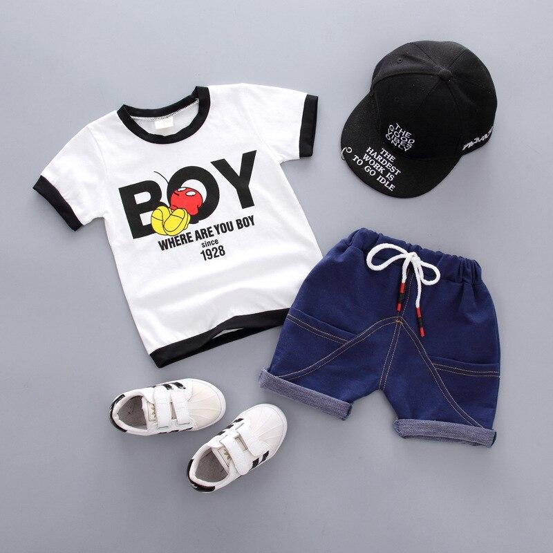 313f5c7a9d6a ... trajes deportivos para niños ropa de verano ropa. Cheap Conjunto de  ropa de verano para bebés y niños, camiseta con letras y pantalones