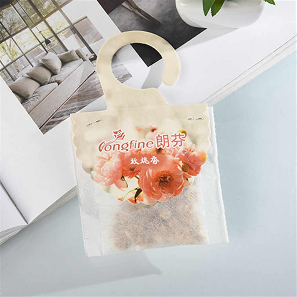 10Pcs น้ำมันหอมระเหย Air Fresh สดชื่นกลิ่นกระเป๋าการพิมพ์ดอกไม้ 8 กลิ่นน้ำหอมกลิ่นธรรมชาติธูปตู้เสื้อผ้าซอง