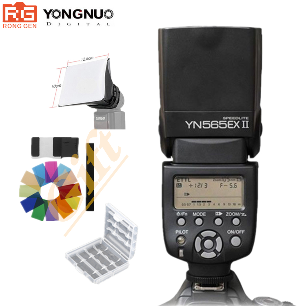 Yongnuo Speedlite YN565EX II C YN-565EX II Wireless TTL Flash Speedlite For Canon Cameras 500D 550D 600D 1000D 1100D yongnuo yn600ex rt ii 2 4g wireless hss 1 8000s master ttl flash speedlite or yn e3 rt controller for canon 5d3 5d2 7d 6d 70d