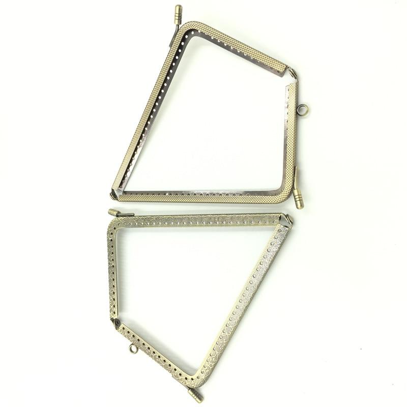10Pcs L Shape DIY Purse Bag Frame Kiss Clasps Locks Bronze Tone Handbag Handle 150x92mm