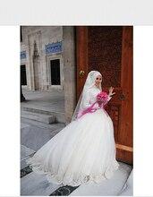 vestido de noiva New Design Muslim Wedding Dress With Hijab Long Sleeve Lace Arabic Wedding Gowns Long robe de mariage