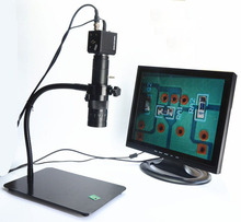Cheaper VGA Gimbal Mount Stand Electronic Digital Microscope Eyepiece LED Illuminant Industrial Camera without Display Screen