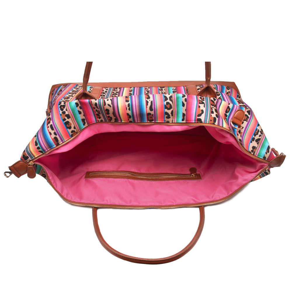 c041a1474762 ... Serape Leopard Duffle Bag Wholesale Blanks Overnight Travel Purse with  Shoulder Strap Gift Canvas Large Handbag ...