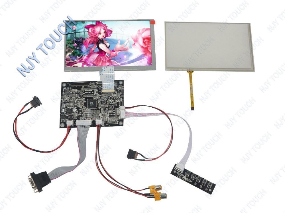 7 INNOLUX AT070TN83 LCD Screen 800x480+Touch Panel+VGA 2AV Reversing Controller Board kit vga 2av reversing lcd controller board with 7inch 1024x600 at070tna2 lcd screen