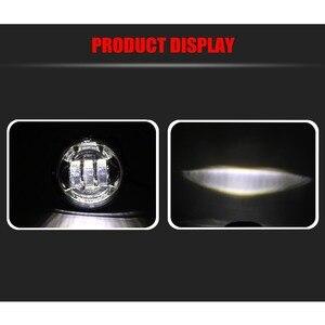 Image 5 - Motorrad Zubehör Schwarz led Moto Nebel Lampe 4 1/2 Zoll Runde Scheinwerfer für Harley Chrome Hilfs Lichter