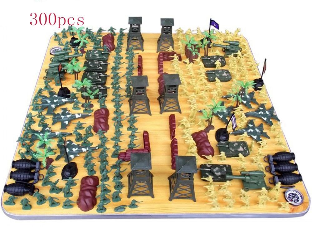 300pcs/set Little soldier in world war ii military model