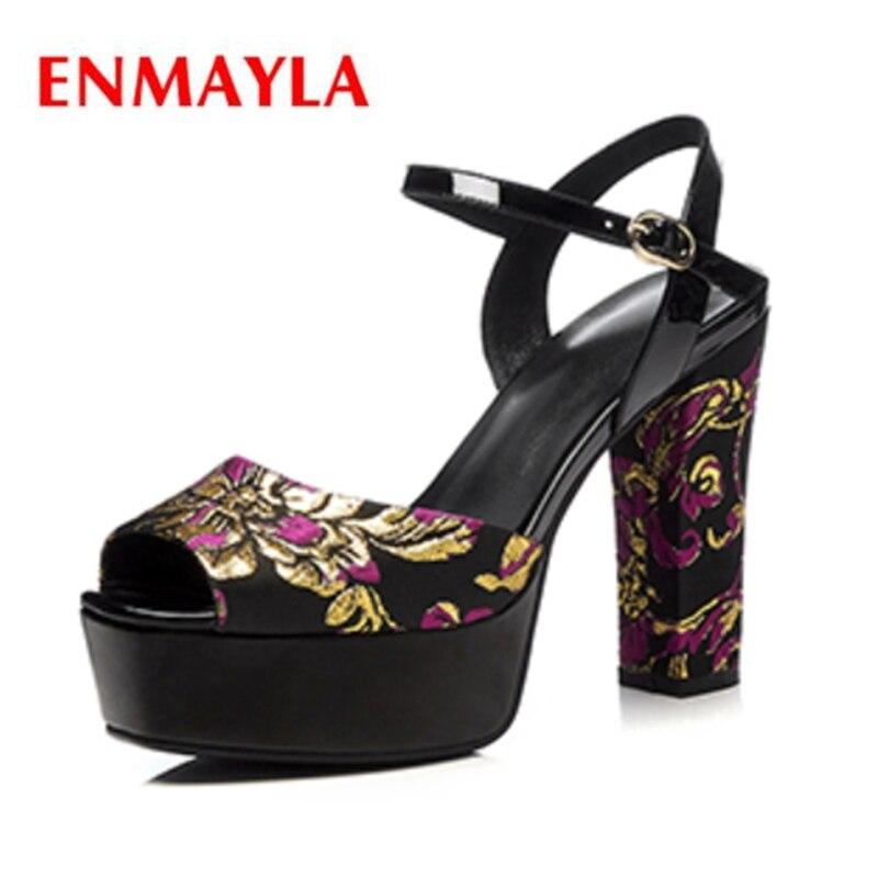 Apricot Tacón 34 Enmayla Cuña Alto Sandalias Soulier Tamaño Hebilla El Zyl2301 Zapatos Para Correa black De Mujer 3 xSp4axq