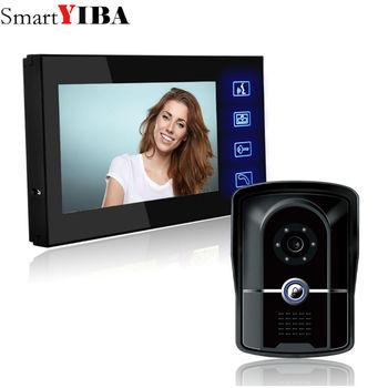 SmartYIBA Home Wired Cheap 7 inch LCD Color Video Door Phone DoorBell Intercom System IR Night vision Camera FREE SHIPPING