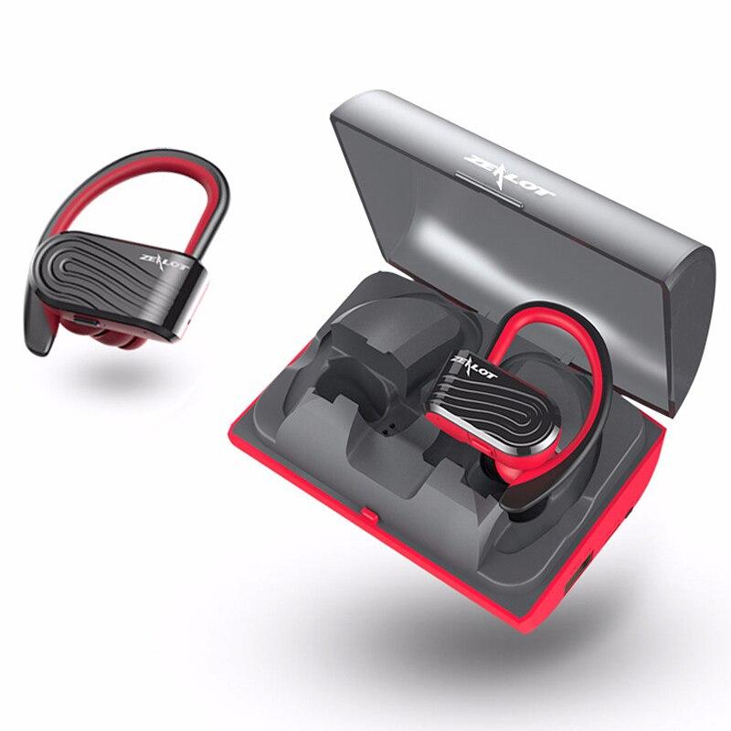 ZEALOT H10 Waterproof TWS Wireless Stereo Bluetooth Earphone Sports Headset With Microphone 2000mAh Backup Battery Box