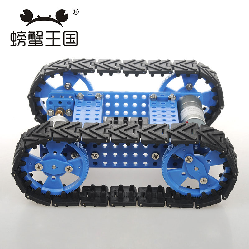 PW M25 DIY Mini RC Tank with Remote controller Rubber Track Technology Invention Funny Puzzle Education Tank Toy 32mm combination track wheel diy tank model wheel technology production model tank track wheel diy toy accessories baby toys