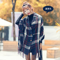 Pashmina Hot Stylish Luxury Brand Plaid winter Cashmere long Shawl Scarf Women's  Cloak Winter Charm Women's Fashion Accessories