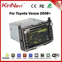 Kirinavi Android 7.1 Quad Core 1024*600 HD Audio dvd плеер автомобиля для Toyota Venza 2008 + Автомобильный навигатор мультимедийная система WI FI 3G