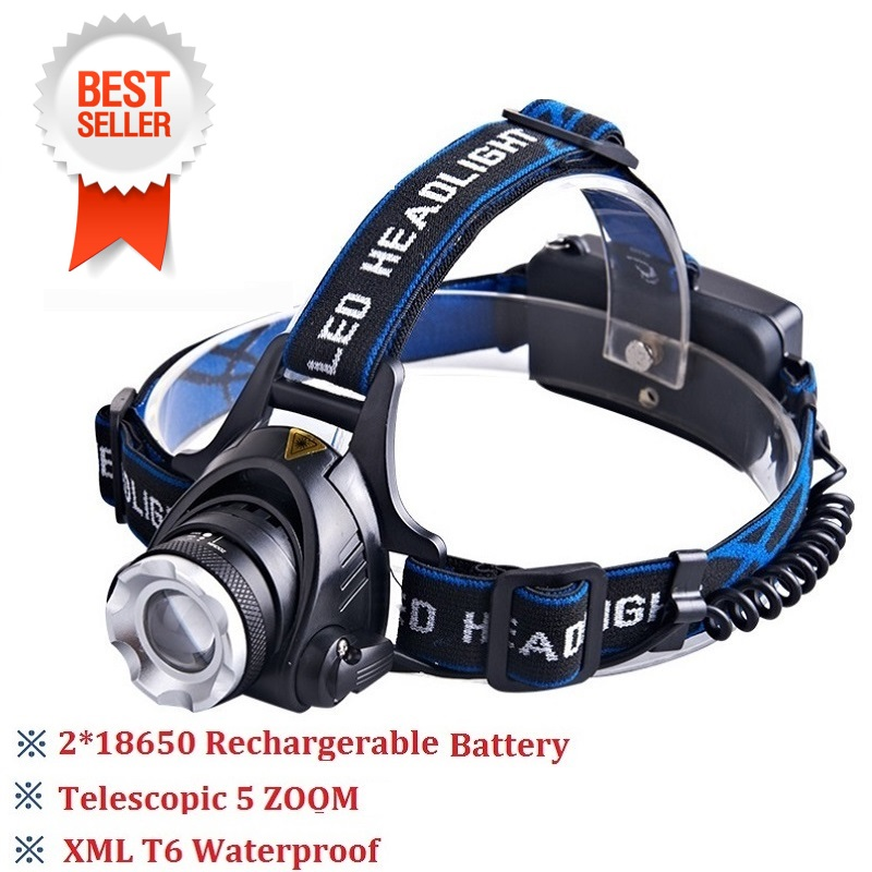 Led Headlamp Headlight Head Lamp lighting Light Flashlight Torch Lantern Night Fishing Light for 18650 battery front light fenix hl23 hiking night fishing headlamp
