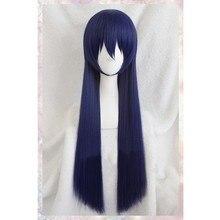 Di alta Qualità Love Live! LoveLive! Umi Sonoda Parrucca Lungo Rettilineo Misto Blu Capelli Sintetici Parrucche Anime Cosplay Wig
