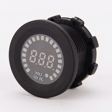 Newest 12V Motorcycle Car Voltmeter 5V – 15V Waterproof LED Truck Volt Meter RV ATV Marine Boat Voltage Socket Accessory