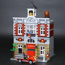 Lepin 15004 2313 Unids Doll House Building Kits Calle de La Ciudad de Bomberos Bloques Educativos DIY Con Modelo Niños de Juguete de Regalo 10197