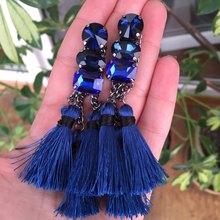 Dvacaman Brand 2017 New Boho Ethnic Long Drop Earrings Women Cheap Rope Chain Tassel Hanging Earrings