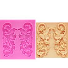 цена M1051 Sugarcraft Grape vine lace Silicone mold fondant mold cake decorating tools chocolate gumpaste mold в интернет-магазинах