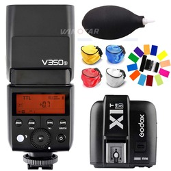 Godox V350S TTL HSS 1/8000s Camera Flash with Built-in 2000mAh Li-ion Battery +X1T-S Transmitter for Sony A7RIII A7S A77 II RX10