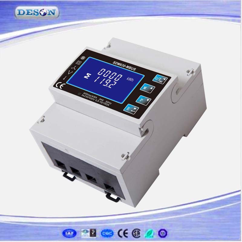 Single/Three Phase Multi Function For V/A/PF/Dmd/KWh/KVarh Din Rail Digital Power Meter With Pulse Mbus Output SDM630-Mbus three phase din rail digital multifuntion meter with rs485 communication programmable kwh meter