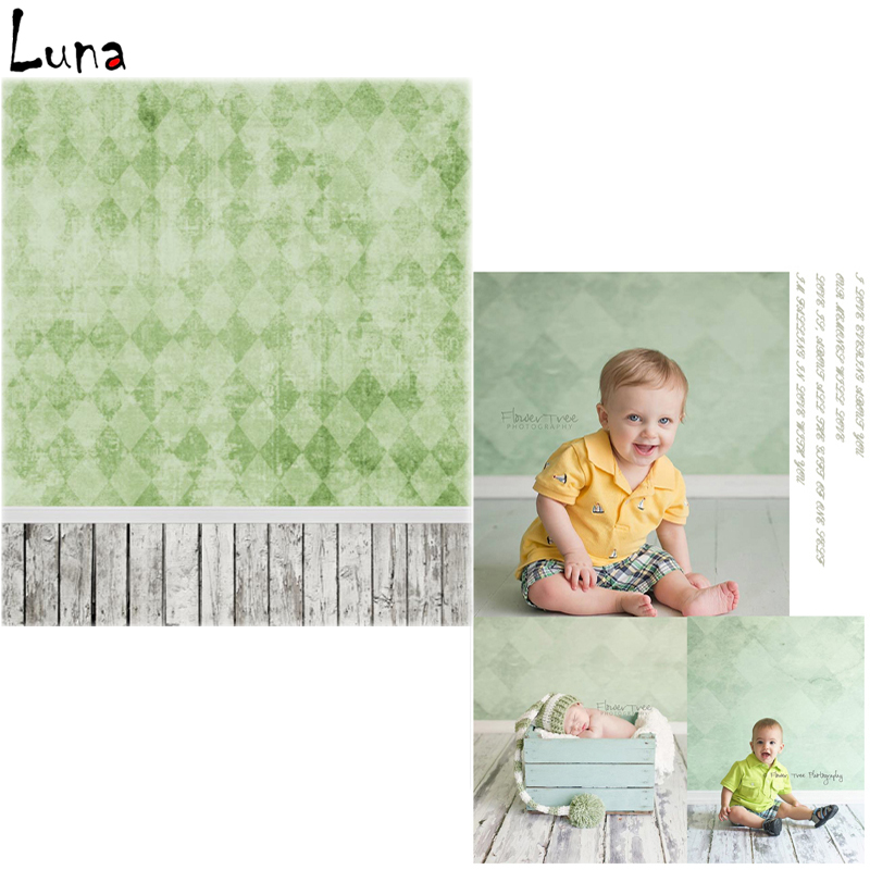 Vinyl Backdrops for photo studio Grid Oxford Photography Background Green Wall Wood Floor For Children  Free Shipping  vinyl photo backdrops for photo studio button oxford photography background wood floor for children free shipping