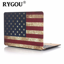 RYGOU Case for New Macbook pro 13 15 US/UK Flag Rubberized Finsh Hard Case for Apple Macbook Air Pro Retina 11 12 13 15 inch