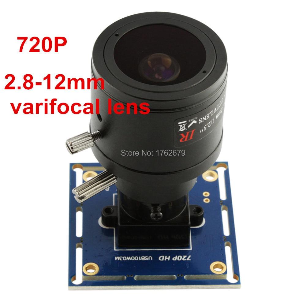 1MP 1280*720 Omnivision OV9712 2.8-12mm megapixel varifocal lens usb cmos camera module endoscope