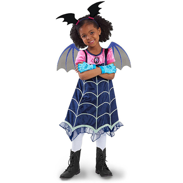 saldi grande liquidazione scarpe classiche US $17.55 |Girls Vampire Vampira Costume include Headband + Wing Kids  Halloween Fancy Dress Vampiress-in Girls Costumes from Novelty & Special  Use on ...
