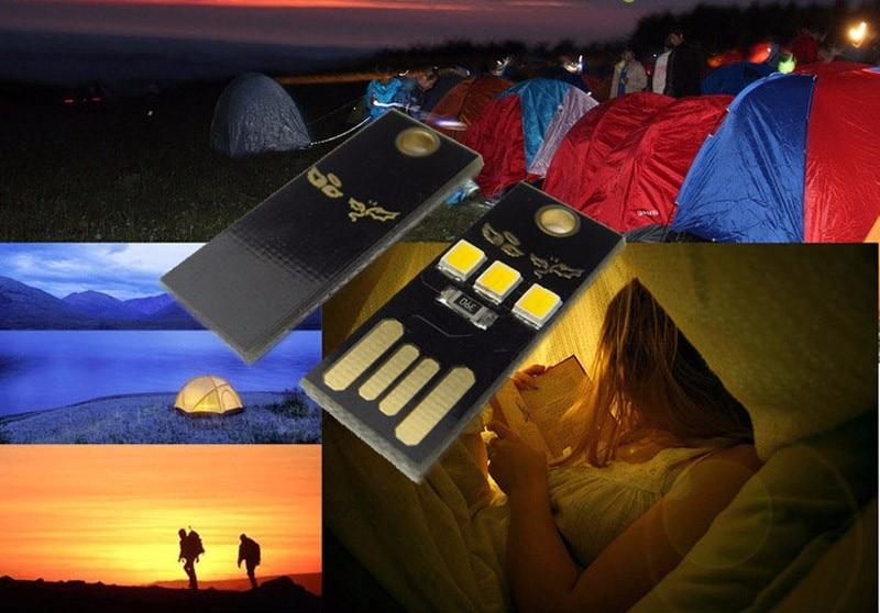Купить с кэшбэком 100 pieces/Lot Portable 5V Mini Lamp SMD 5730 USB Lampada LED Night Light outdoor camping