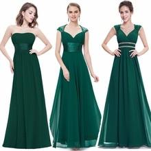 Ever Pretty Women Elegant Sexy Evening Dresses V Neck Chiffon Backless Vintage Sleeveless Dark Green Party Evening Dress