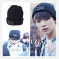 2017 kpop BTS Hats Wool Cap Bangtan Boys Harajuku Korean Couple k-pop bts JUNG KOOK Skullies Beanies Hedging Cap Letter Knit Hat