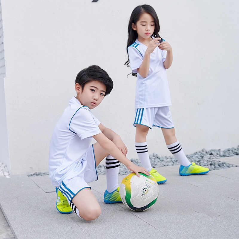 a326a80bce3e Футбольная Одежда для девочек обувь для мальчиков 2018 майки дети  быстросохнущая спортивная форма школьников Training одежда