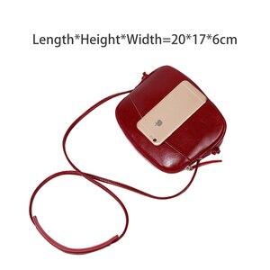 Image 4 - Zency Милая женская сумка мессенджер из 100% натуральной кожи, мягкая кожа, для девушек, сумка для путешествий, элегантная сумка на плечо, дамские сумки для телефона