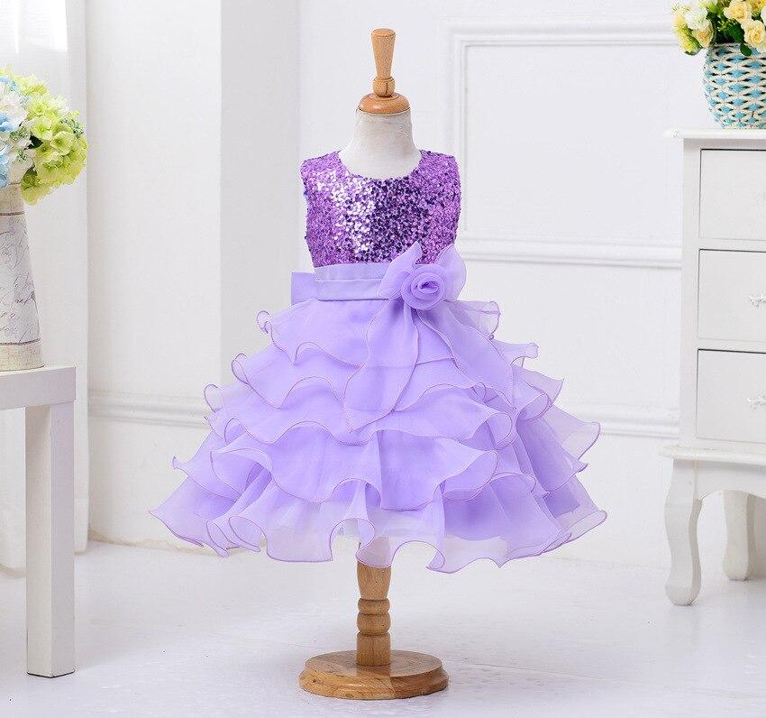 Edad 3t 13y azul púrpura vestido de fiesta vestido sin mangas niños ...