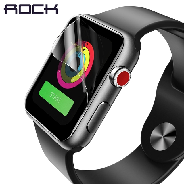 online store 1b134 eaf61 US $4.89 30% OFF|2pcs/Lot ROCK Full Coverage Screen Protector for Apple  Watch 2 3 ,Hydrogel Protective Film for i Watch of 38mm 42mm size-in Phone  ...