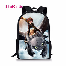 Thikin How to Train Your Dragon Bagpacks for Teenager School Bag Preschool Bookbag Boys Travel Shoulder Backpack Mochila