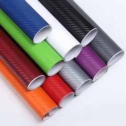 10x127 cm Carbon Faser Vinyl Film Auto Aufkleber Wasserdicht Auto Styling Wrap Für Auto Fahrzeug Detaillierung Auto zubehör motorrad