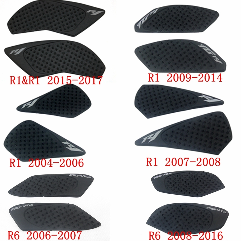 Tank Grip Pads For <font><b>YAMAHA</b></font> R6 <font><b>R1</b></font> Protector <font><b>Sticker</b></font> Decal Gas Knee Grip Tank Traction Pad Side 3M image