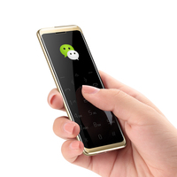 Small Ultrathin Credit Card Cellphone With Metal Body Bluetooth 3.0 Dialer Dual SIM Card Anti lost FM Mp3 Mini Mobile Phone P139
