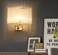 Современная площадь кристалла светодиодный настенный светильник модные простые уютный проход Лестницы Спальня прикроватные стены света Б