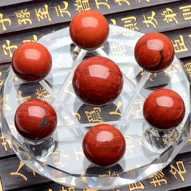 1 Set = 7 Pcs red jasper method crystal healing absorb energy psychic astrology telepathize Scholomance for health care
