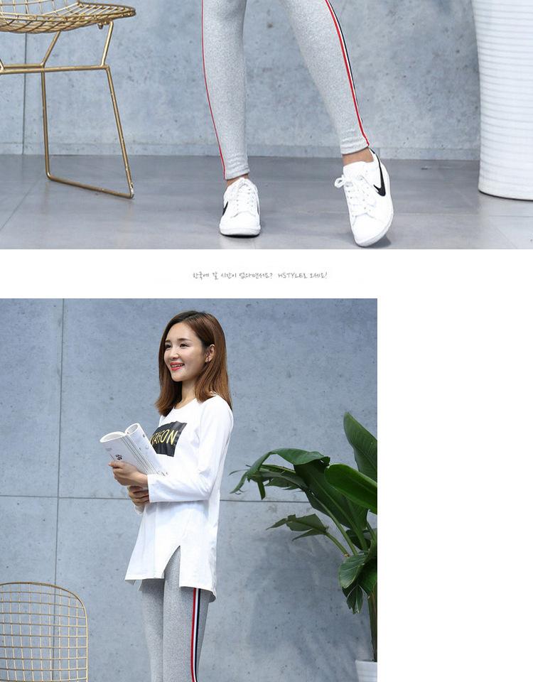 High Quality Cotton Leggings Side stripes Women Casual Legging Pant Plus Size 5XL High Waist Fitness Leggings Plump Female 19