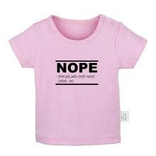 Футболки для новорожденных с принтом «Nope Phonetic symbol osward the Lucky Rabbit», однотонные футболки с короткими рукавами для малышей