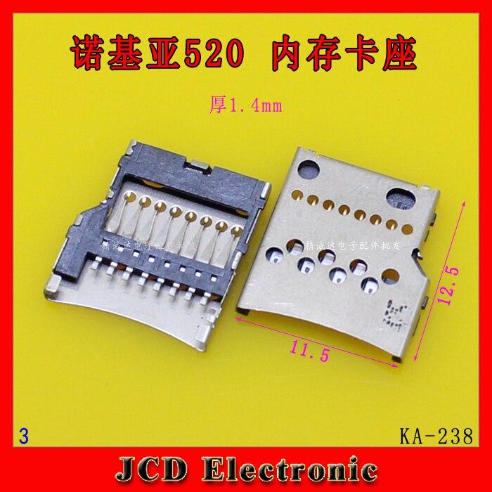 20pcs/lot memory card reader For Nokia Lumia 520/530/630/635/640 xl 735 micro SD TF card reader connnector socket holder slot